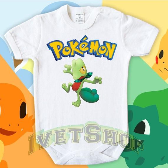 treecko pokemon pokemon go baby body vests bodysuit funny child one