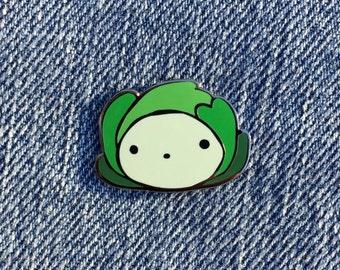 Happy Cabbage Hard Enamel Pin