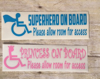 Wheelchair Access Decal