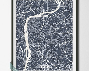 Prague Print, Czech Republic Poster, Prague Poster, Prague Map, Czech Republic Print, Street Map, Czech Republic Map, Independence Day