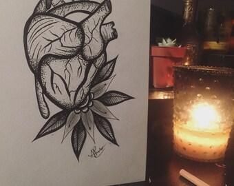 Blackwork Heart Design