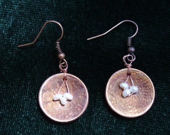 Copper Dome Earings