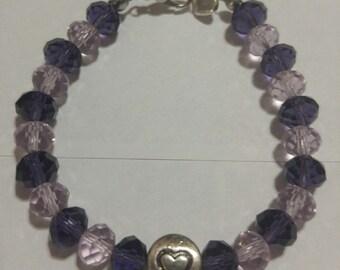 Dusty Purple & Lavender Beaded Bracelet