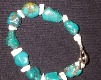 Turquoise and sea shell bracelets