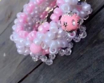 Pink Kandi Cuff