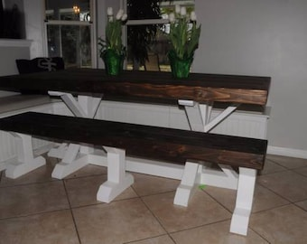 Rustic Shabby Beachy Farmhouse Custom Made Table