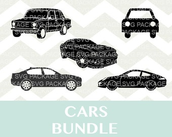 Cars SVG Bundle, car Silhouette bundle, automotive Clipart SVG, Png, Files for Silhouette Cameo, DXF, Cutting Files Svg, automobile svg, Car