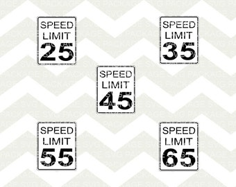 SVG Clipart, Speed Limit Sign SVG, Freeway sign Clipart Png, Svg Cutting File, Highway Svg png, freeway Vector File, png, traffic svg, speed