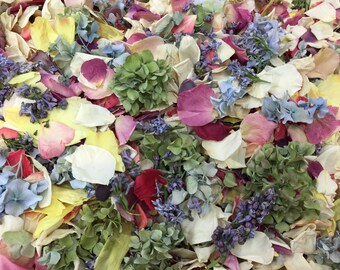 Assorted Flower Petals. 10 cups. Wedding Petals. Flower Confetti.Freeze dried Petals.Rose Petals.Flower Girl Petals.Wedding Decoration. USA