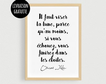 Post Oscar Wilde - Quote from motivation at work and in life - displays A4 or A3 of writer Oscar Wilde