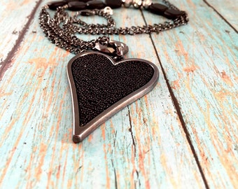Necklace - Black Heart