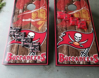 High Quality Tampa Bay Buccaneers Cornhole Game Complete Set