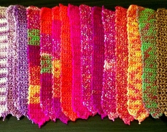 Hand crocheted bookmarks