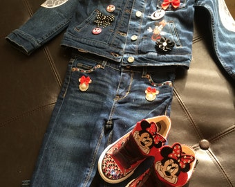 Jean character jean jacket combo set