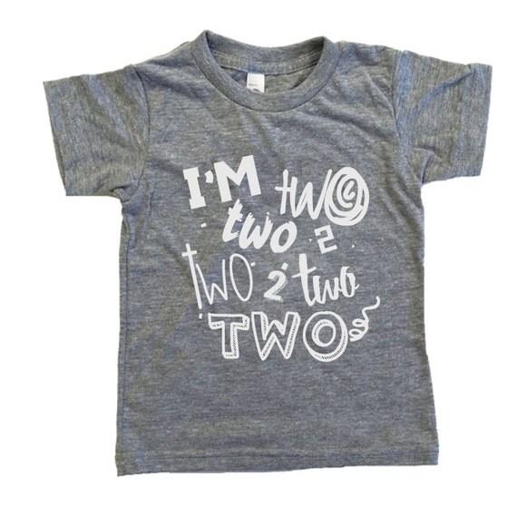 Items Similar To Two Year Old Birthday Shirt Birthday