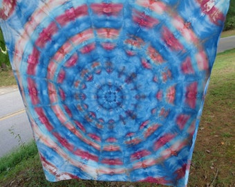 "Tie dyed tapestry tie dye tapestry sheet. ""Ramble on Rose"""