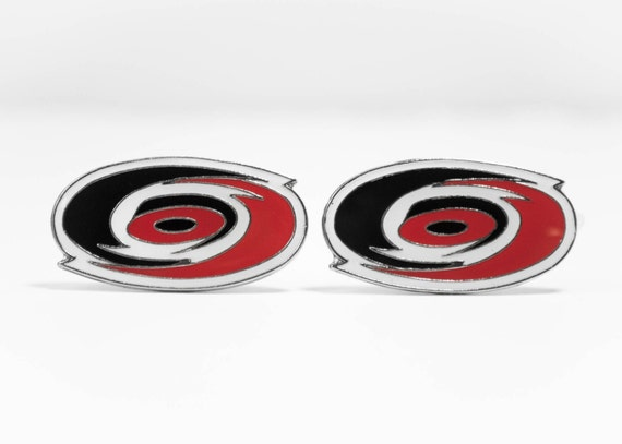 Carolina Hurricanes Cuff Links -- FREE SHIPPING with USPS First Class Domestic Mail