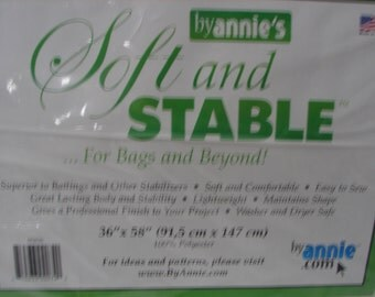 Soft and Stable by Annies for Bags and Beyond 36 x 58 White