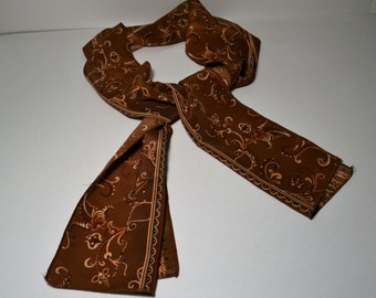 1960's Paisley Brown Scarf