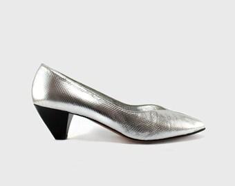 Unworn Lanvin silver shoes
