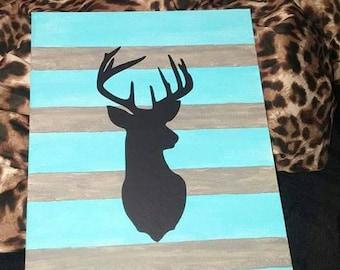 Stripe painted buck canvas