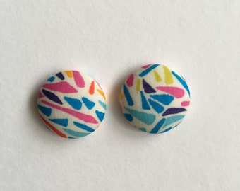 19mm Bright Sparks Fabric Studs