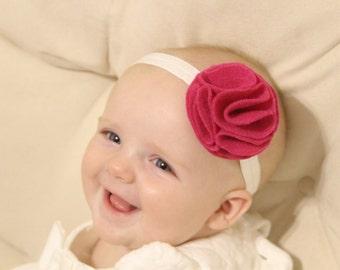 Girl's Felt Flower Headband, Baby Headband