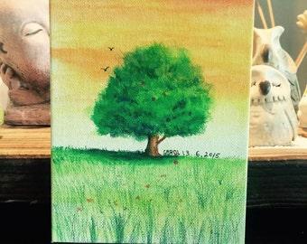 "original art - Colored Pencil to draw a tree 5""X7"""