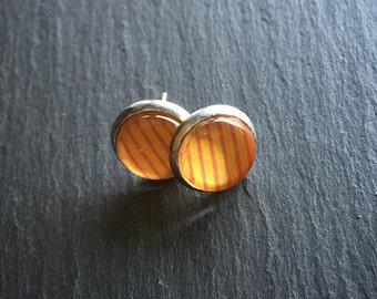 Orange/Red Stripe Earrings