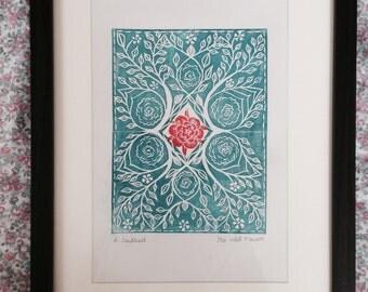 Flower Lino print