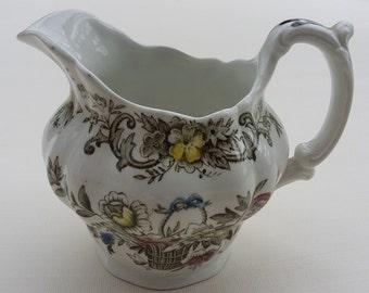 Vintage Milk Jug Ridgway Ironstone Old English Bouquet