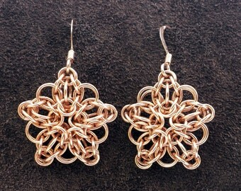 Celtic Star Earrings - 14kt Rose Gold Fill