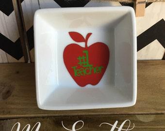 Teacher Ring Dish, Coin Dish, Teacher gift, Teacher Appreciation
