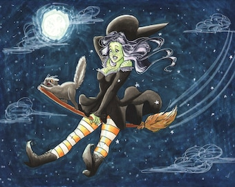 Lrg Witchy Pop Monster Print