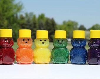 Mini Sensory Bear - Sensory Toy - Sensory Bottle - Autism Toys - Autism Sensory Toys -  Rainbow Set