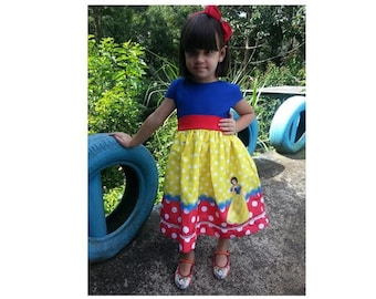 Handmade - Snow White Costume, Snow White dress, Snow White, princess dress, costume, princess costume, Princess party