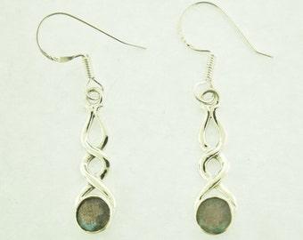 Labradorite Earrings in sterling silver