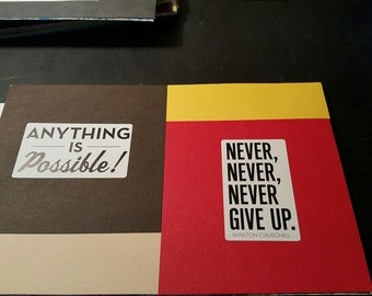 Never Give Up! Handmade Greeting Card