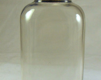 1940s Vintage Glass Liquor Flask