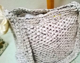 cream Ribbon bag