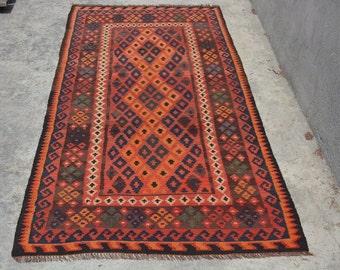 6'7 x 3'2 ft Gorgeous Afghan Handmade Ghalmori Kilim