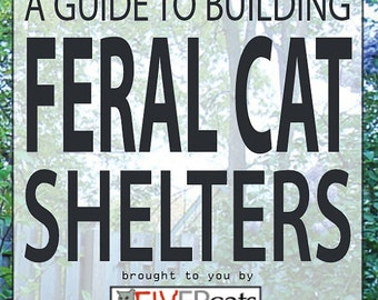 Feral Winter Cat House/ Fundraiser, Downloadable plans for winter refuge for feral and abandoned domestic cats.