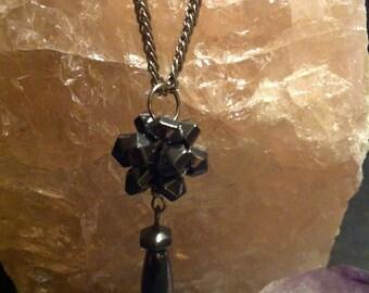 Hematite pendant with necklace