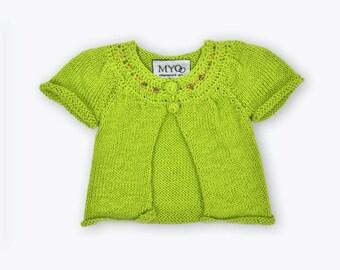 Apple Cardigan. 1-3 of years. Girl sweater. Handmade Cardigan, knitwear