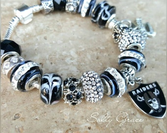 Raiders charm bracelet european style charm bracelet