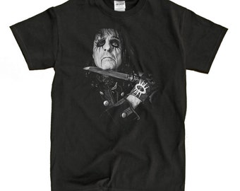 Alice Cooper Black T-Shirt - High-Quality! Ready to Ship!
