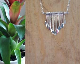 Silver Tear Drop Necklace