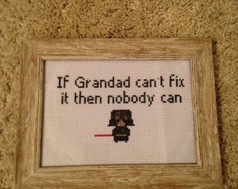 Personalised cross stitch perfect for fathers day