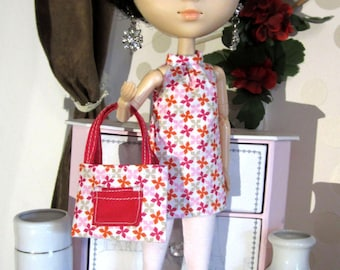 Clothing for Pullip - all pink tunic, leggings and bag - Dolls clothes - Pink tunic, leggings and bag