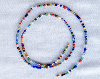 Waist Beads - African Waist Beads - Waist Chains - Belly Beads  - Multi Color Mix African Waist Beads